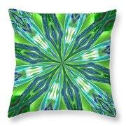 Crystal Ocean Throw Pillow by Donna Blackhall