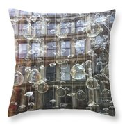 Crystal Ornaments Throw Pillow