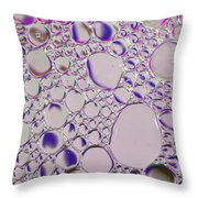 Crystal Pink Abstract Throw Pillow