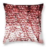 Crystal Red Throw Pillow