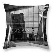 Crystal Rose Throw Pillow