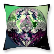 Crystal Royale Fractal Throw Pillow