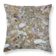 Crystal Shells Throw Pillow