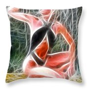 Crystal Sling Fractal Throw Pillow