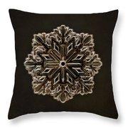 Crystal Snowflake Throw Pillow