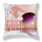 Crystal Sunset Throw Pillow
