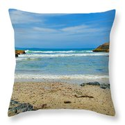 Crystal Waters - Port Macquarie Beach Throw Pillow