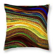 Crystal Waves Abstract 2 Throw Pillow
