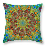 Crystals Quarry Throw Pillow