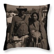 Csa Cavalryman And Wife Throw Pillow