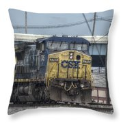 Csx 7745 Engine 01 Throw Pillow
