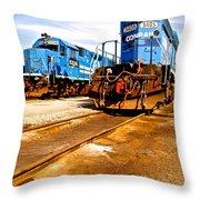 Csx Railroad Throw Pillow