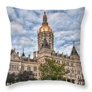 Ct State Capitol Building Throw Pillow