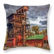 Coal Tipple Throw Pillow