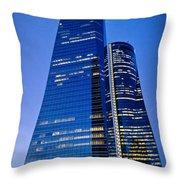 Cuatro Torres Business Area Throw Pillow
