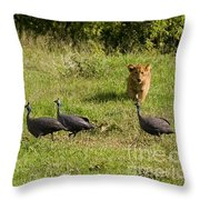 Cub And Toys Throw Pillow