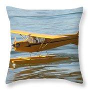 Cub On Floats Throw Pillow