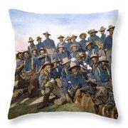 Cuba - Tenth Cavalry 1898 Throw Pillow