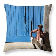 Cuban Man And His Cigar Throw Pillow