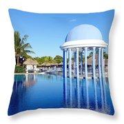 Cuban Resort Throw Pillow