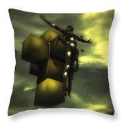 Cube Cross Throw Pillow