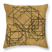 Cubed II Throw Pillow