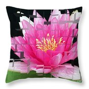 Cubed Lily Throw Pillow
