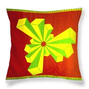 Cubism In Wheat-shire Throw Pillow