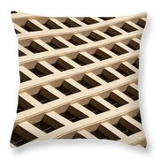 Cubicles Throw Pillow by Raul Rodriguez