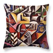 Cubist Cityscape, 1914 Throw Pillow