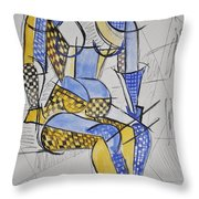Cubist Expression Throw Pillow
