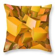 Cubist Melon Burst By Jammer Throw Pillow