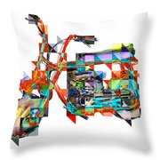 Cubist Mini Bike Throw Pillow by Russell Pierce