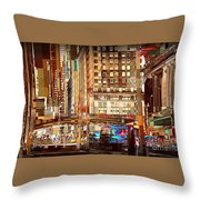 Grand Central And 42nd St Throw Pillow