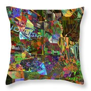 Night Market - Outdoor Markets Of New York City Throw Pillow