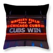 Cubs Win Throw Pillow