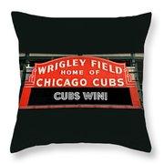 Cubs Win - Wrigley Sign Throw Pillow