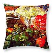 Cucumber 79 Cents Throw Pillow
