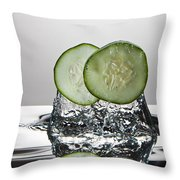 Cucumber Freshsplash Throw Pillow