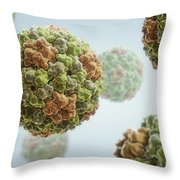 Cucumber Mosaic Virus Throw Pillow