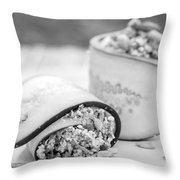Cucumber Rolls Black And White Throw Pillow