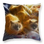Cuddle Buddies - Square Version Throw Pillow