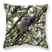 Cuddling The Blossoms Throw Pillow
