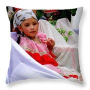 Cuenca Kids 216 Throw Pillow by Al Bourassa