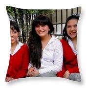 Cuenca Kids 277 Throw Pillow by Al Bourassa