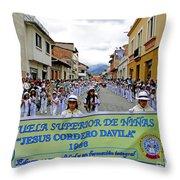 Cuenca Kids 326 Throw Pillow by Al Bourassa