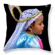 Cuenca Kids 363 Throw Pillow by Al Bourassa