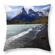 Cuernos Del Paine Patagonia 3 Throw Pillow