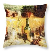 Cuisine Throw Pillow by Mo T