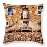 Culross Sketches 1  Scotland Throw Pillow